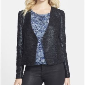 Trouve Navy NWT Coated Crop Jacket
